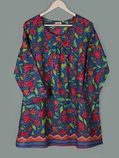 Floral Print Cotton Top - PLUSS