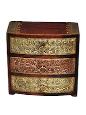 3 Drawer Embossed Wooden Chest - Woodworks