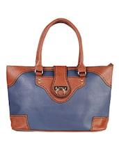 Rectangular Blue PU Handbag - LOZENGE