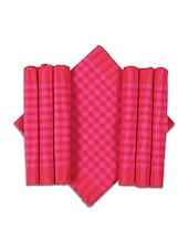Dhrohar Yellow, Pink, Red Cotton Handloom Placemats - By