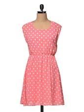 Cute Polka Dot Pink Dress - RUTE