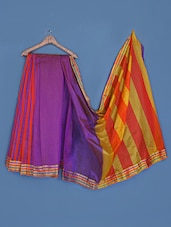Zari Border Stripes  Silk Saree - INDI WARDROBE
