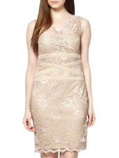 Beige Lace  Dress - MARTINI