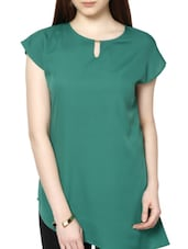 Polyester Asymetric Plain Long Tunic - MARTINI