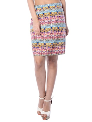 multicolor crepe skirts