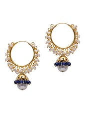 Metal Alloy Earrings With Acrylic Beads & Pearls - VANARA