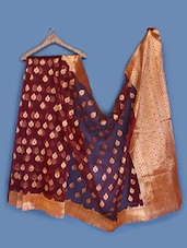 Sheer Brocade Silk Saree - INDI WARDROBE