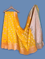 Zari Brocade Yellow Silk Saree - INDI WARDROBE