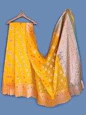 Zari Brocade Yellow Silk Saree - INDI WARDROBE