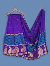 Woven Zari Paisley Silk Saree - INDI WARDROBE