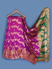 Brocade Woven Buti Silk Saree - INDI WARDROBE