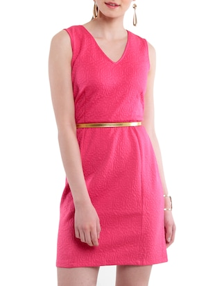 pink polyelastane dress