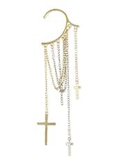 Punk Style Cross Hanging Ear Cuff - Young & Forever