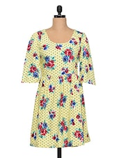 Floral Printed Polycrepe Dress - SS