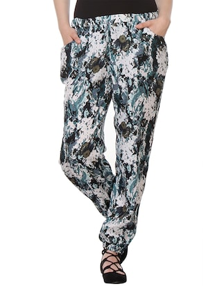multicolor polyester  track pants