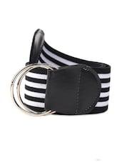 Monochrome Striped Belt - Dynamic Designs
