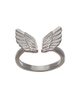 silver metal alloy ring