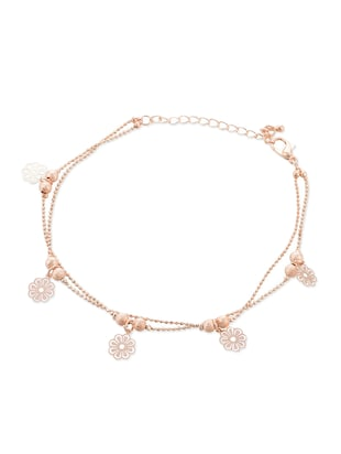 rose gold alloy anklets and payal -  online shopping for anklets and payals