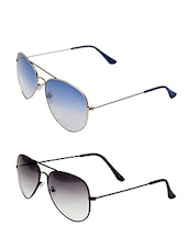 Multi colored metal frame  aviator,  set of 2 sunglasses -  online shopping for Sunglasses