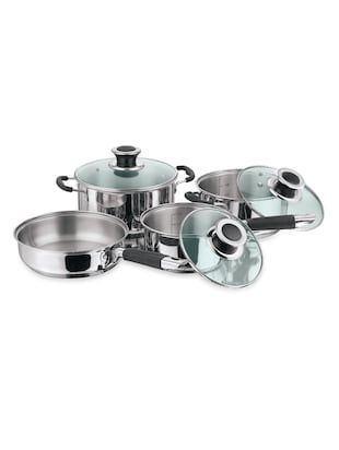 stainless Steel cookware set wit glass lid