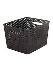 Black Weaved Deep Basket With Handle - Curver