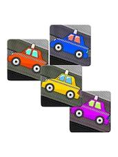 """Taxi"" Printed Mdf Coaster Set - Shopkeeda"