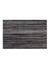 Sanaa Ribbed Placemat Lurex Table Mat Set Of 2Pcs-Black-33x48 CM - By