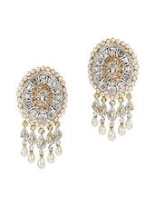 White,gold Yellow Gold Chand Bali Earring - By