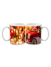 Santa In Car Printed Mug - Start Ur Day