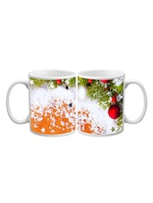 Red Balls In Tree Printed Mug - Start Ur Day