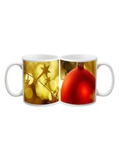 Red Ball With Stars Printed Mug - Start Ur Day