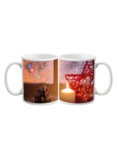 Candle With Star Printed Mug - Start Ur Day
