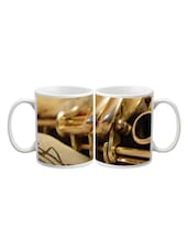 Music Speaker Printed Ceramic Mug - Start Ur Day