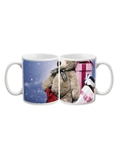 Teddy With Gifts Printed Mug - Start Ur Day
