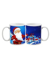 Santa With Christmas Gift Printed Mug - Start Ur Day