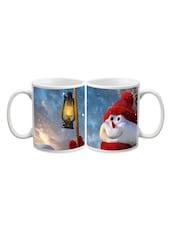 Santa With Light Printed Mug - Start Ur Day