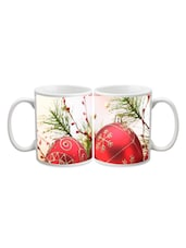 Merry X-mas Ball Printed Mug - Start Ur Day