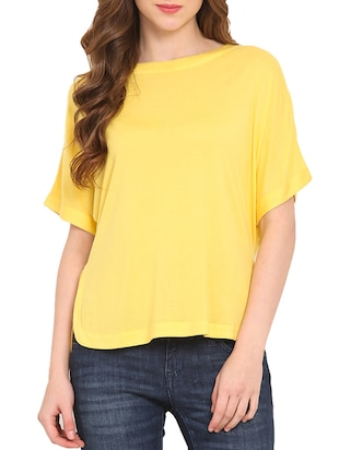 Yellow viscose solid top