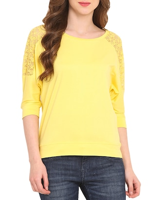 yellow viscose top