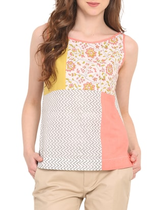 multicolor cotton top