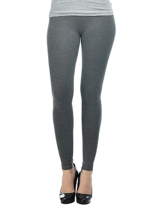charcoal 95%cotton melange 5%spandex leggings