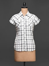 Short Sleeeve Cotton Checks Shirt - Concepts