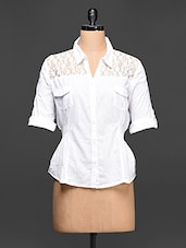 White Cotton Lace Shirt - Concepts