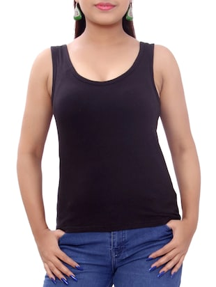 black polycotton top