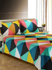 Geometric print Cotton Double Bed Sheet set