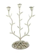 Ornate Silver Aluminium Candelabra - Sage Koncpt