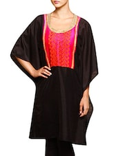black faux georgette kaftan -  online shopping for Kaftans