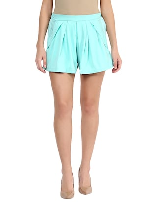mint crepe shorts