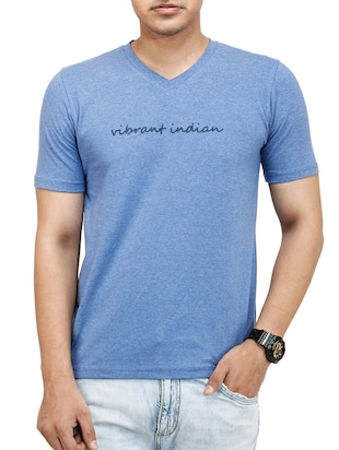 blue cotton tshirt