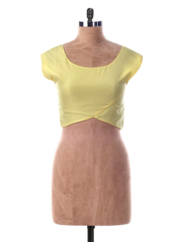 Round Neck Short Sleeve Crop Top - Miss Chase